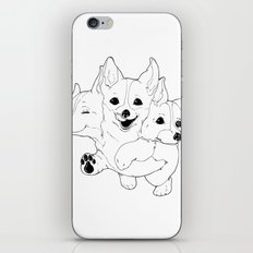 Corgerberus iPhone Skin