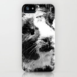 guinea pig ws bw iPhone Case