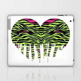 Stripes heart one Laptop & iPad Skin