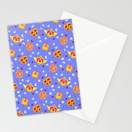 Sailor Moon Brooches Pattern - Blue / Sailor Moon Stationery Cards