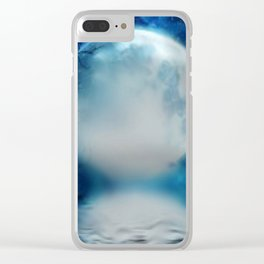 the moon Clear iPhone Case