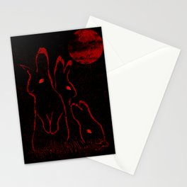 Evil Bunnies Stationery Cards
