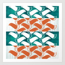 Foxhatched Art Print