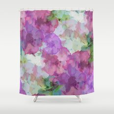 Sweet Peas Floral Abstract Shower Curtain