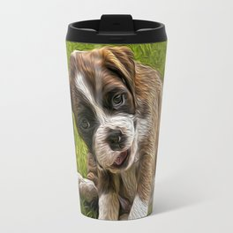 Boxer Pupy Travel Mug