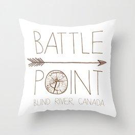 Battle Point Throw Pillow