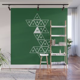 Green Unrolled D20 Wall Mural