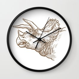 Retro Triceratops Dinosaur Gifts Wall Clock