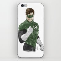 green lantern iPhone & iPod Skins featuring Green Lantern by Alex Heuchert