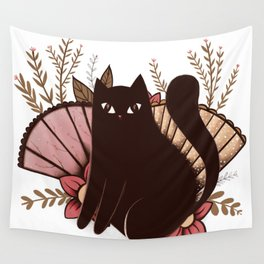 Japanese Kitty Wall Tapestry