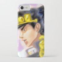 jjba iPhone & iPod Cases featuring Jotaro Kujo JJBA by Pruoviare