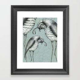 Quails I Framed Art Print