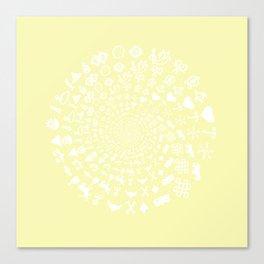 Chardonnay Love Symbol Mandala Canvas Print
