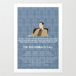 The Reichenbach Fall - Mycroft Holmes Art Print