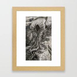 A Watery Grave: Aquatic Death Framed Art Print