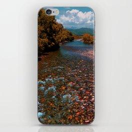 Autumn mountain river #photography #landscape iPhone Skin