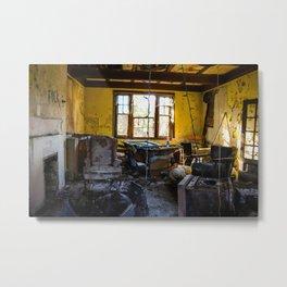 Yellow Decay Metal Print