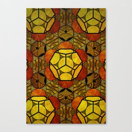 Sacred Geometry for your daily life -  Platonic Solids - ETHER COLOR Canvas Print