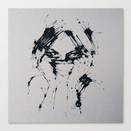 Splaaash Series - Femme Fatale Ink Canvas Print