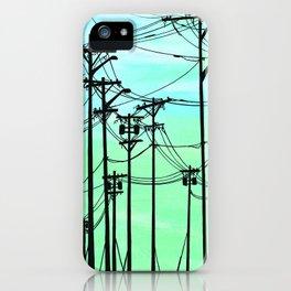 Industrial poles aqua iPhone Case