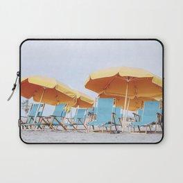 Beach Umbrellas, Coastal Wall Art Laptop Sleeve