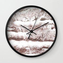 Gray brown Wall Clock
