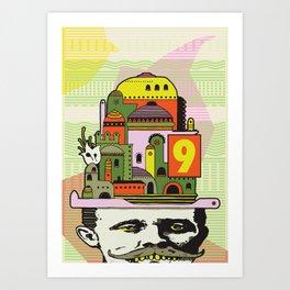 GLAD HATTER 1 Art Print