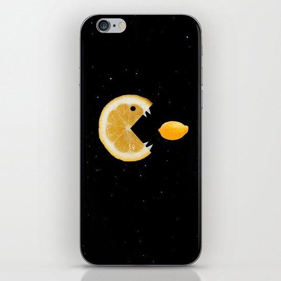 Funny Lemon Eats lemon iPhone & iPod Skin