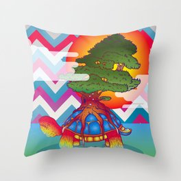 Bonsai Testudo Throw Pillow
