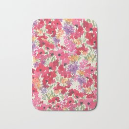 Big Red Poppy Patch Bath Mat