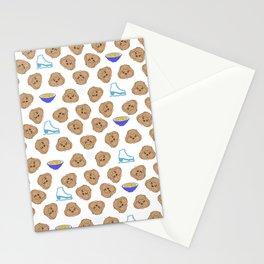 yuri on ice cute makkachin pattern Stationery Cards