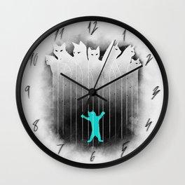 Clowder (White) Wall Clock