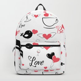 Valentine's day elements pattern Backpack