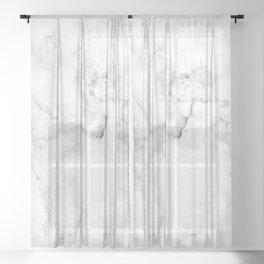 Marble White Grey Pattern Sheer Curtain