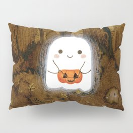Little ghost and pumpkin Pillow Sham