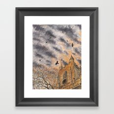 Dusk Roost at St Mary's Framed Art Print
