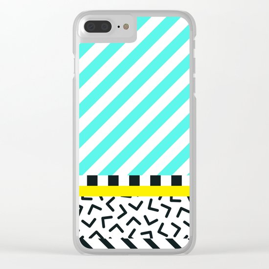 Memphis pattern 82 Clear iPhone Case