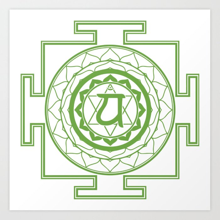 Sri Yantra Heart Chakra Art Print