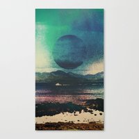 Canvas Prints featuring Fluid Moon by Jane Lacey Smith