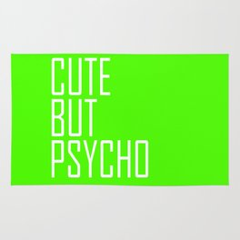 Cute But Psycho - Lime Green Rug