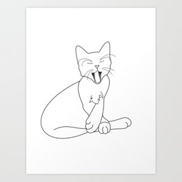 Time Fur a Cat Nap Art Print
