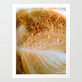 Close-up of a cafe latte Art Print