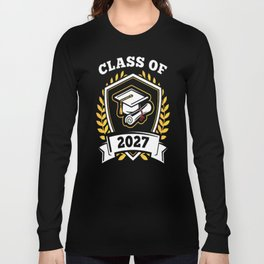 Class-of-2027---Class-of-2027-Graduation-T-Shirt---Sao-chép Long Sleeve T-shirt
