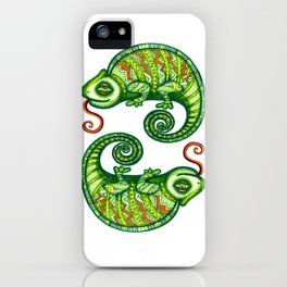 chameleons iPhone Case