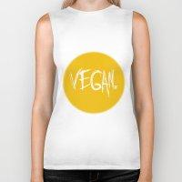vegan Biker Tanks featuring Vegan. by Love Libby X