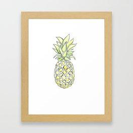 Pineapple Pop Framed Art Print