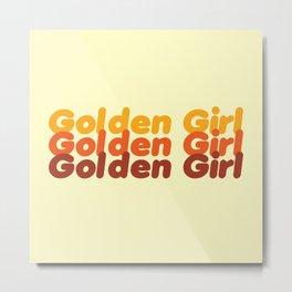 The Golden Girl Metal Print