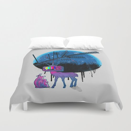Nature TV Party Duvet Cover