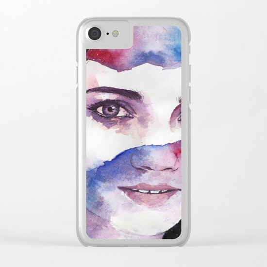 Tonight I gaze at the stars Clear iPhone Case