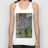 lavender Tank Tops featuring LAVENDER by ART FEEDS HUNGER